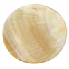 Flat Back Shell Round With Hole 38mm Natural